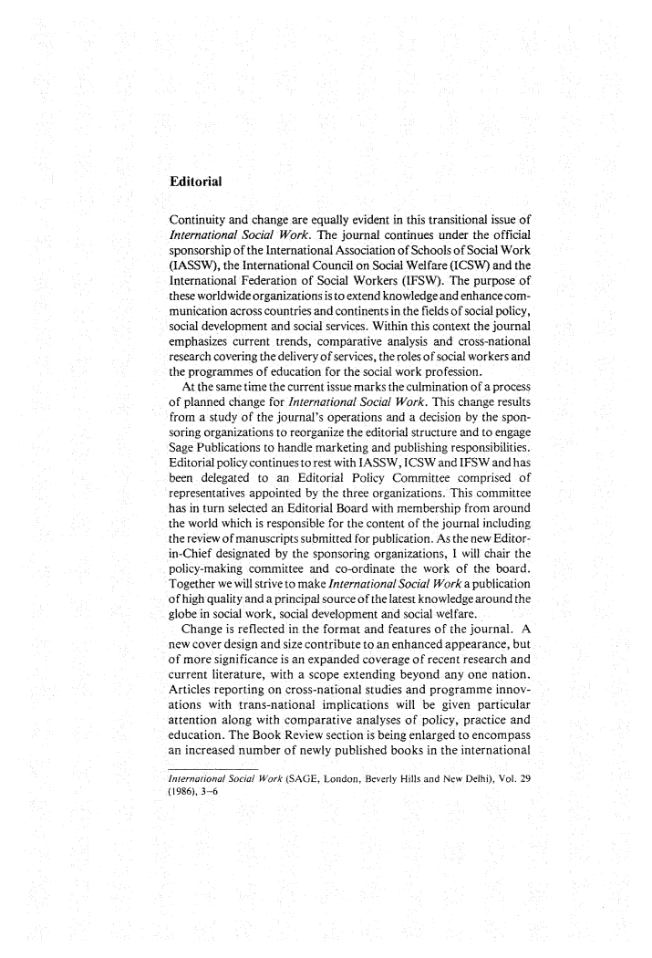 handle is hein.journals/intsocwk29 and id is 1 raw text is: 