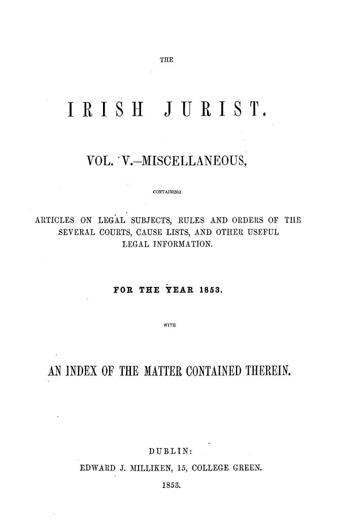 handle is hein.journals/irshjrst5 and id is 1 raw text is: 