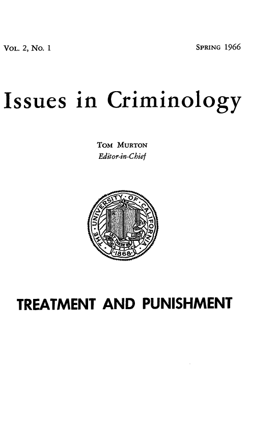 handle is hein.journals/iscrim2 and id is 1 raw text is: VOL. 2, No. 1