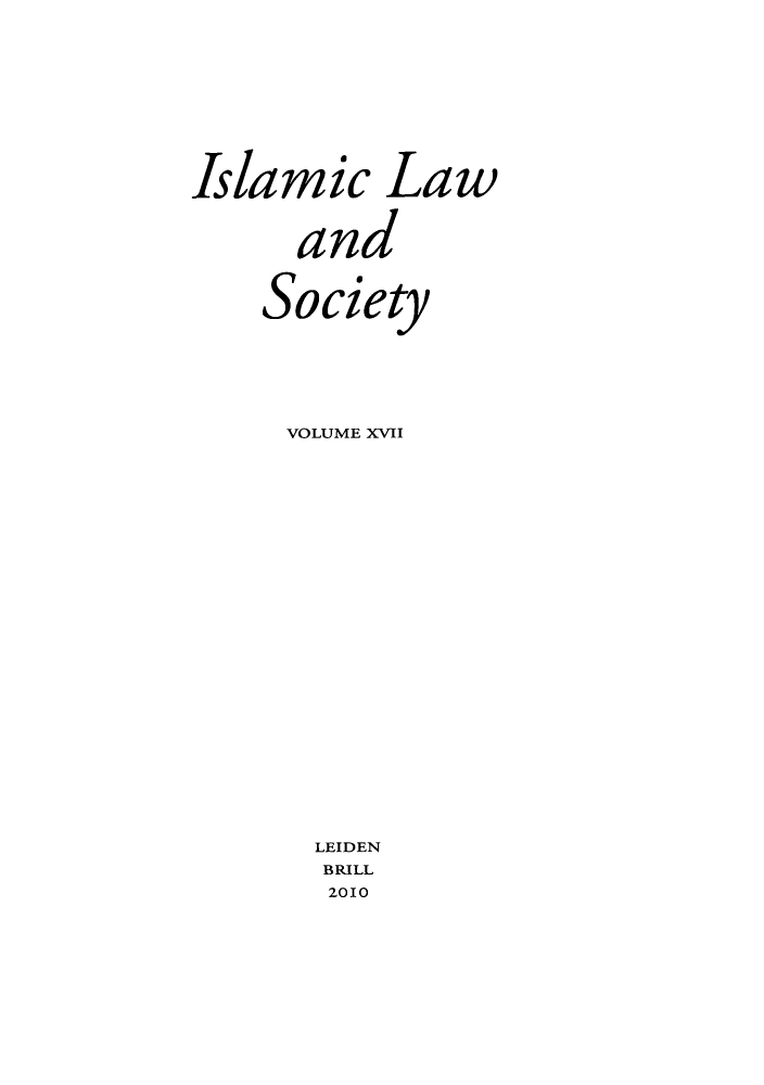 handle is hein.journals/islamls17 and id is 1 raw text is: Islamic Law