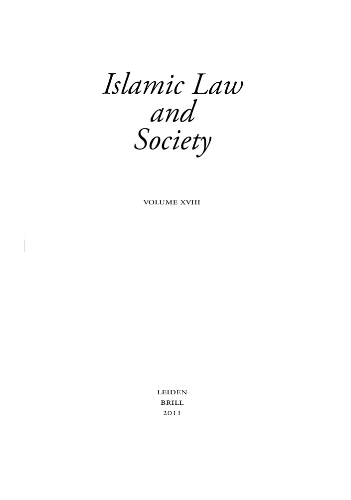 handle is hein.journals/islamls18 and id is 1 raw text is: Islamic Law