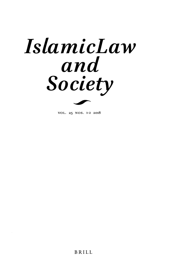 handle is hein.journals/islamls25 and id is 1 raw text is: 