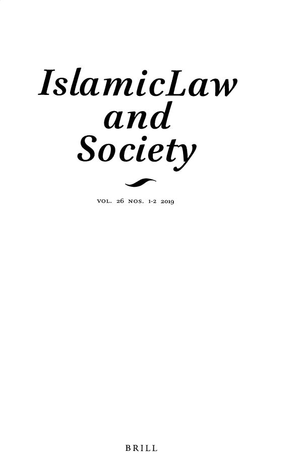 handle is hein.journals/islamls26 and id is 1 raw text is: 