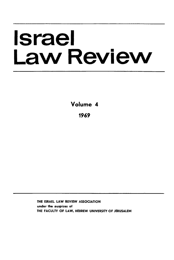 handle is hein.journals/israel4 and id is 1 raw text is: Israel