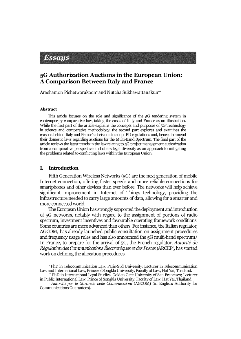 handle is hein.journals/italj6 and id is 259 raw text is: 