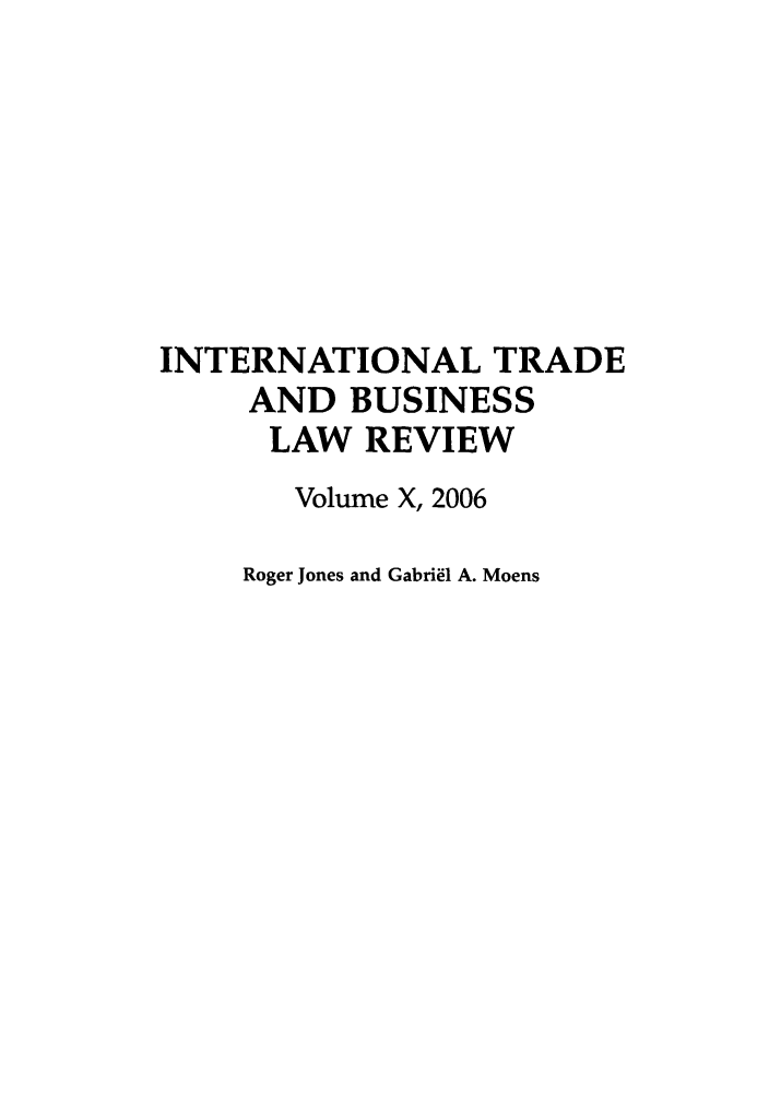 handle is hein.journals/itbla10 and id is 1 raw text is: INTERNATIONAL TRADE