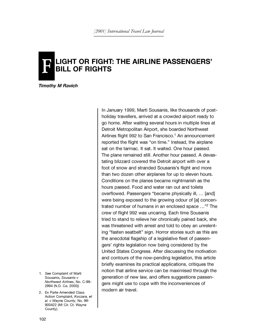 handle is hein.journals/itlj2001 and id is 108 raw text is: 2001] International Travel Law journal