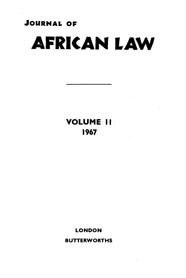 handle is hein.journals/jaflaw11 and id is 1 raw text is: JOURNAL OF