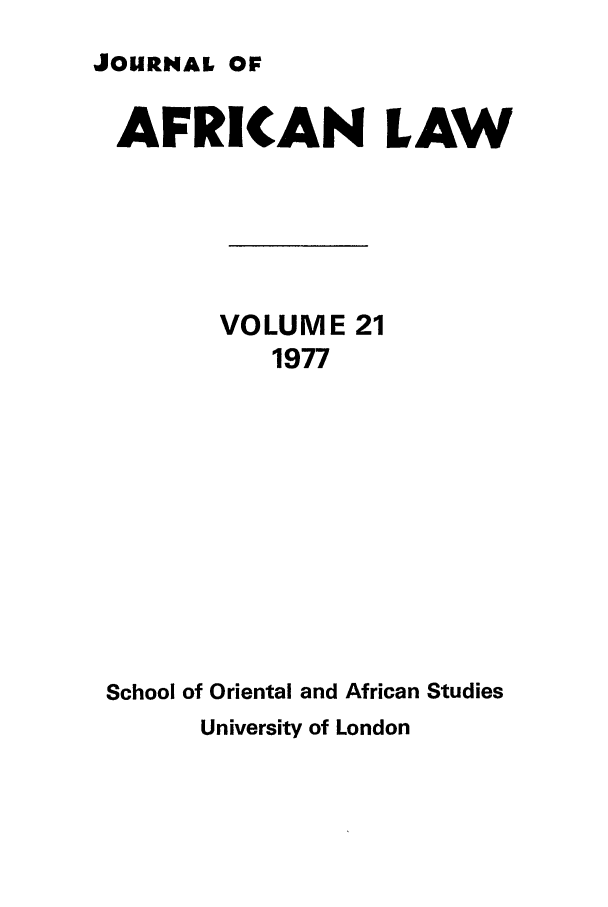 handle is hein.journals/jaflaw21 and id is 1 raw text is: JOURNAL OF