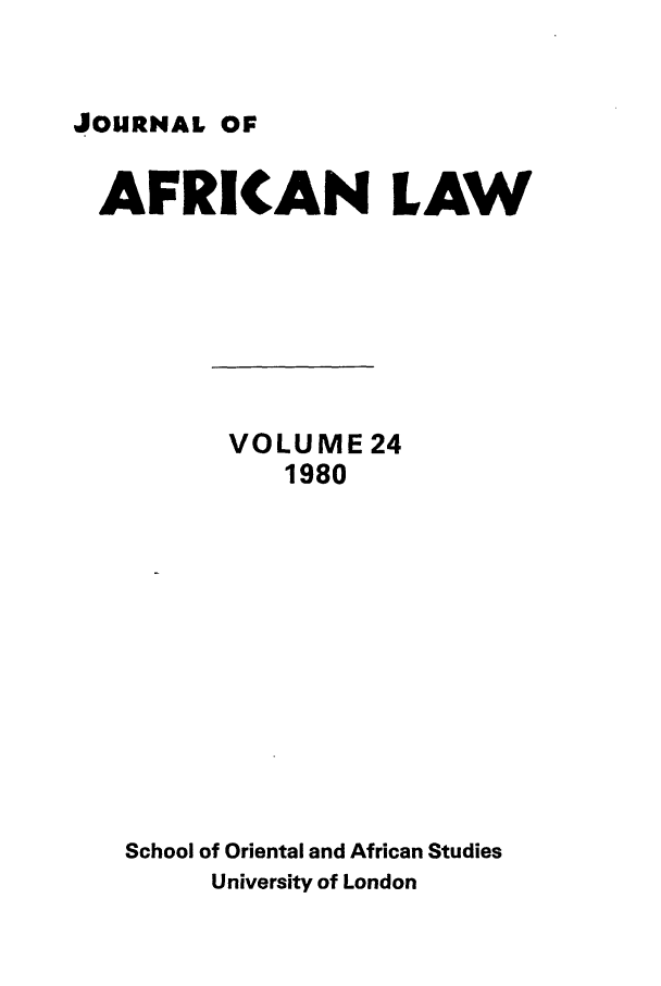 handle is hein.journals/jaflaw24 and id is 1 raw text is: JOURNAL OF