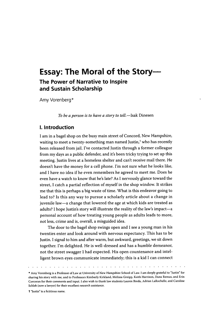 narrative essay intro Essay introductions  this transition sentence effectively connects the opening narrative to the main point of the essay, her thesis:.