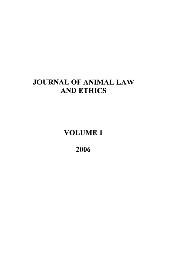 handle is hein.journals/janilet1 and id is 1 raw text is: JOURNAL OF ANIMAL LAW