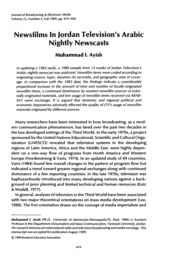 handle is hein.journals/jbem33 and id is 465 raw text is: Journal of Broadcasting & Electronic Media