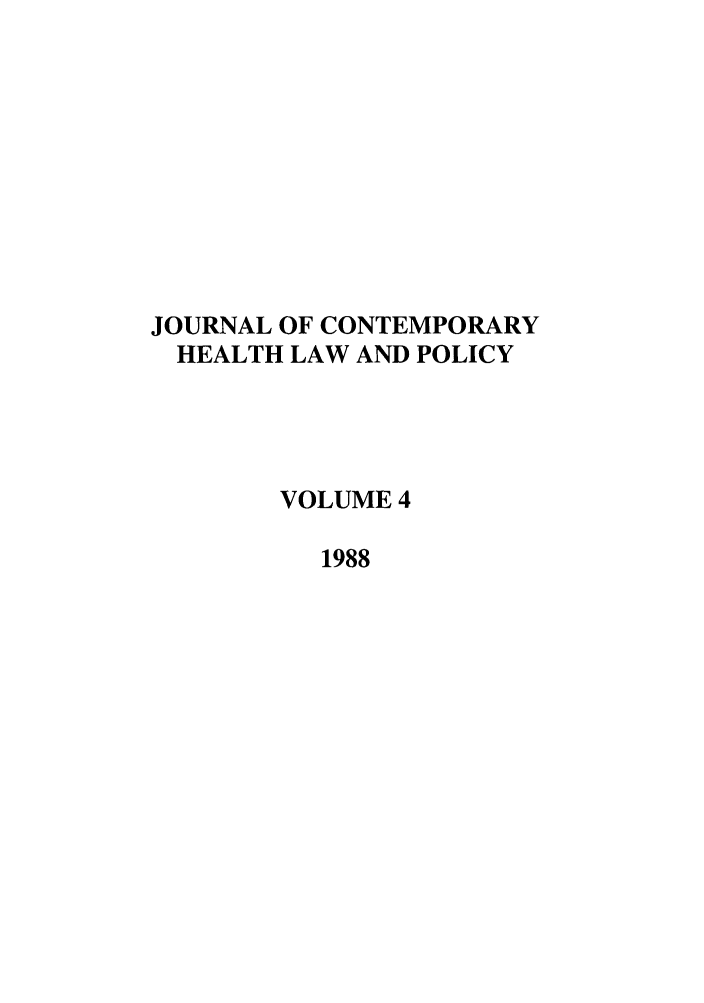 handle is hein.journals/jchlp4 and id is 1 raw text is: JOURNAL OF CONTEMPORARY
