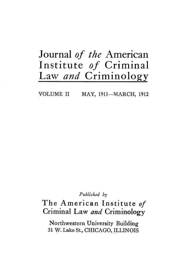 handle is hein.journals/jclc2 and id is 1 raw text is: Journalof