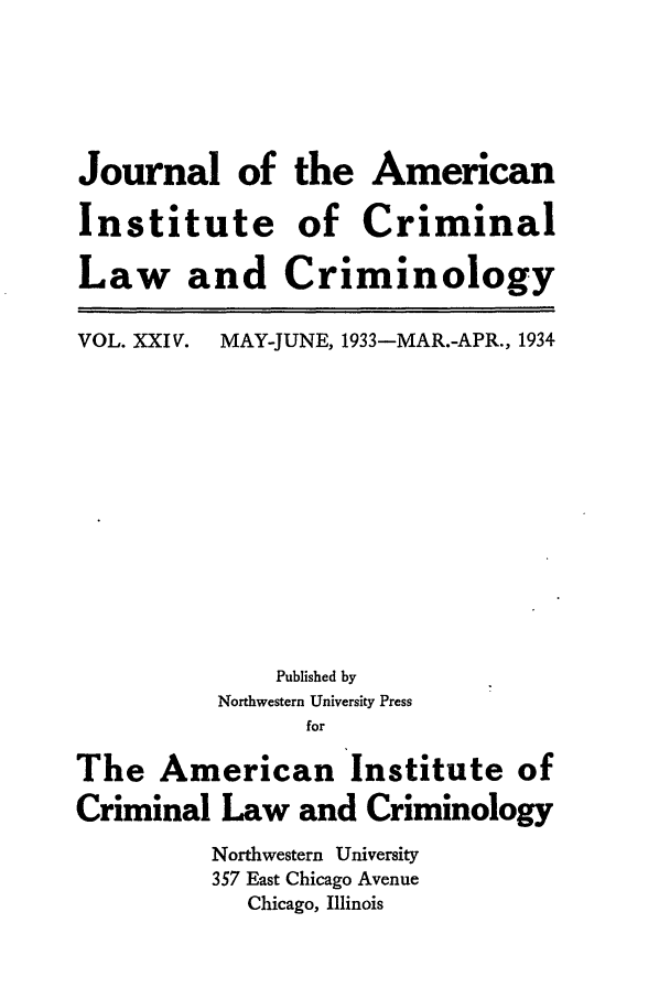 handle is hein.journals/jclc24 and id is 1 raw text is: Journal of the American