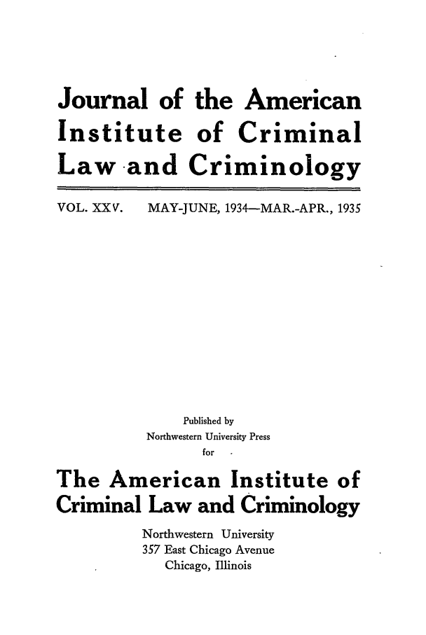 handle is hein.journals/jclc25 and id is 1 raw text is: Journal of