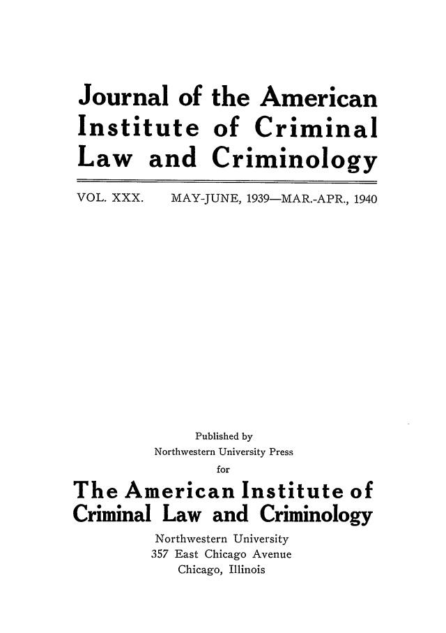 handle is hein.journals/jclc30 and id is 1 raw text is: Journal of