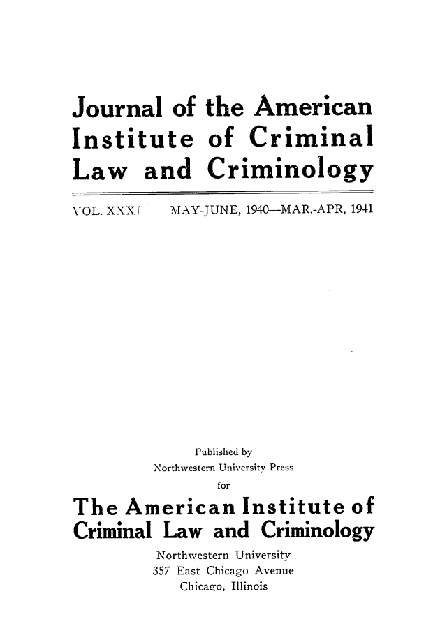 handle is hein.journals/jclc31 and id is 1 raw text is: Journal of the American