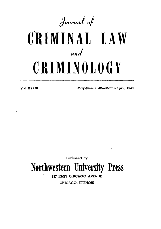 handle is hein.journals/jclc33 and id is 1 raw text is: Journal q/