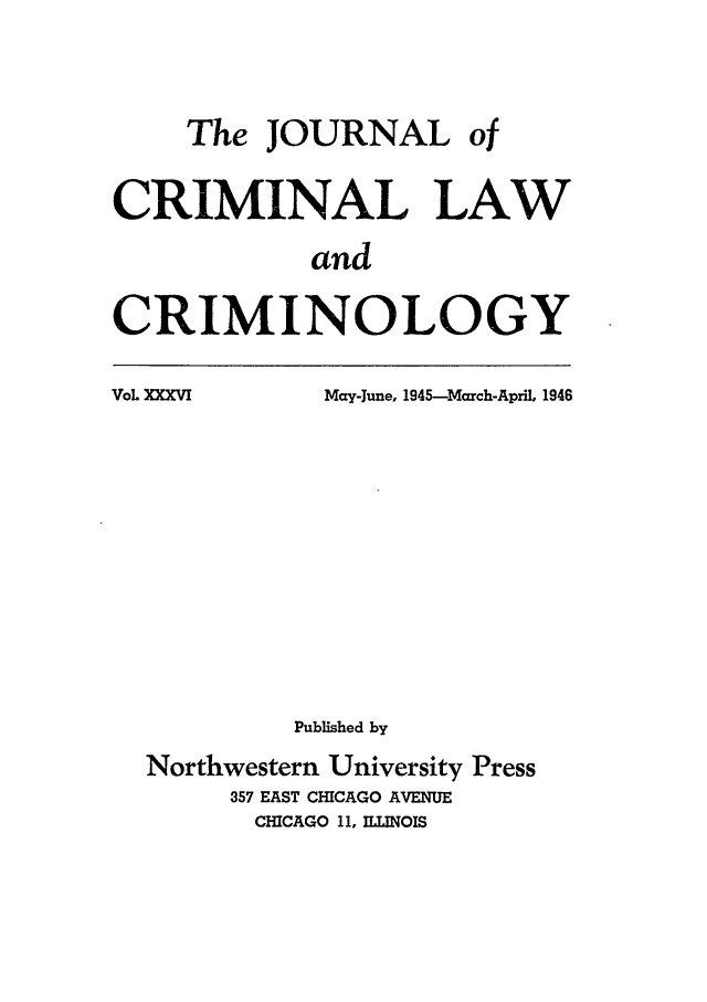 handle is hein.journals/jclc36 and id is 1 raw text is: The JOURNAL of