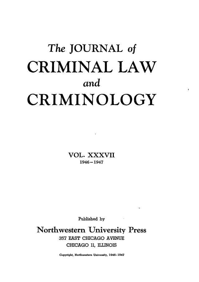 handle is hein.journals/jclc37 and id is 1 raw text is: The JOURNAL of