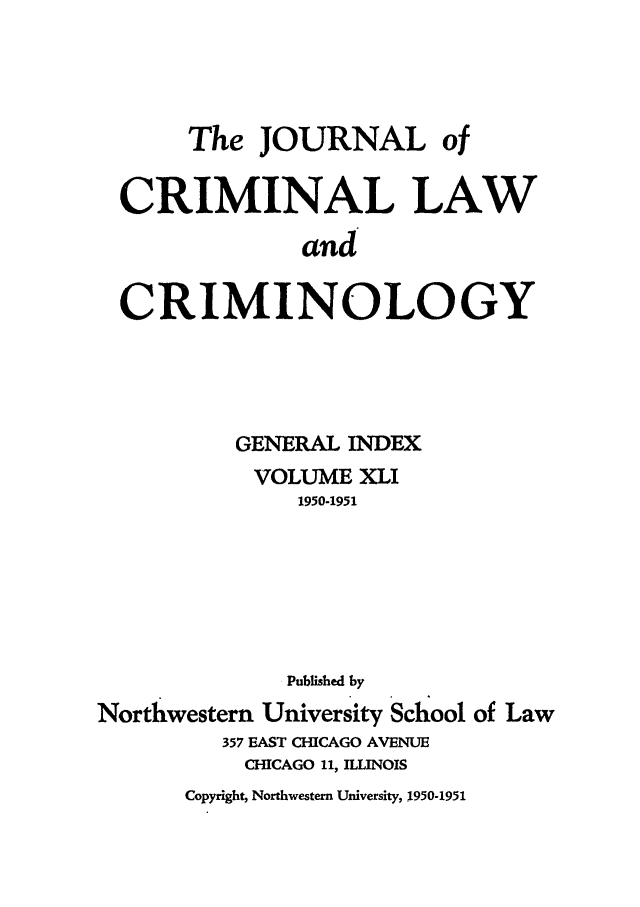 handle is hein.journals/jclc41 and id is 1 raw text is: The JOURNAL of