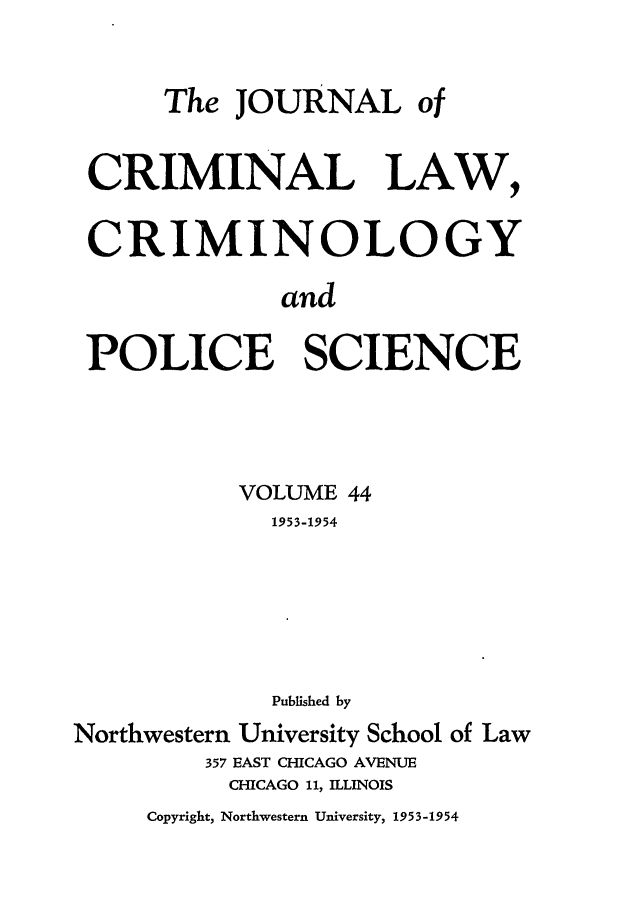 handle is hein.journals/jclc44 and id is 1 raw text is: The JOURNAL of
