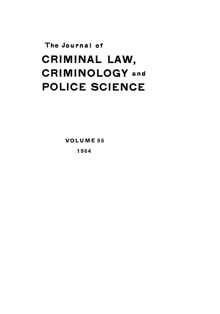 handle is hein.journals/jclc55 and id is 1 raw text is: The Journal of
