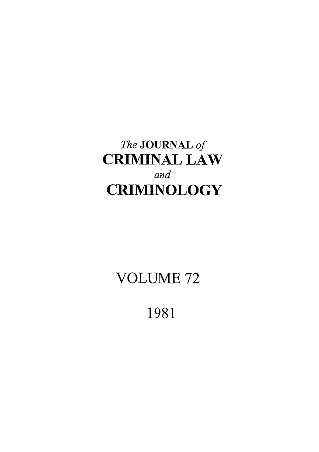 handle is hein.journals/jclc72 and id is 1 raw text is: The JOURNAL of