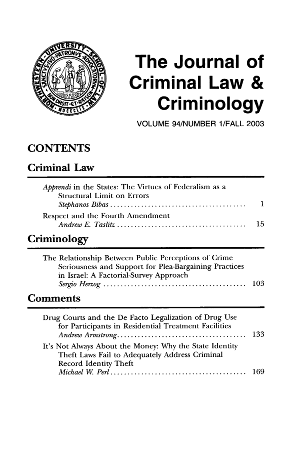 handle is hein.journals/jclc94 and id is 1 raw text is: The Journal of