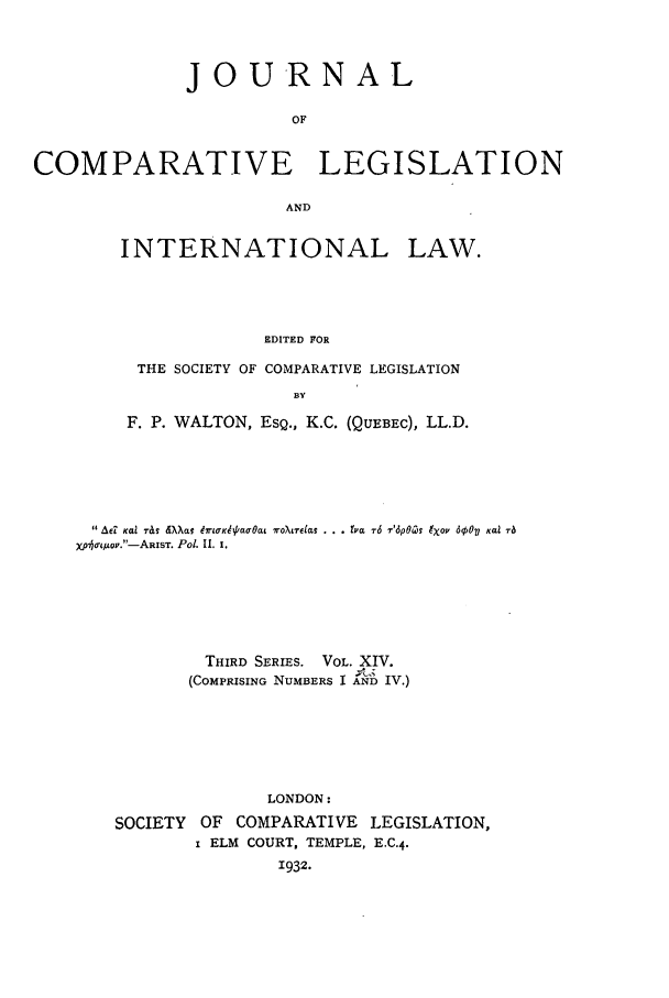 handle is hein.journals/jclilcs14 and id is 1 raw text is: j o URN AL