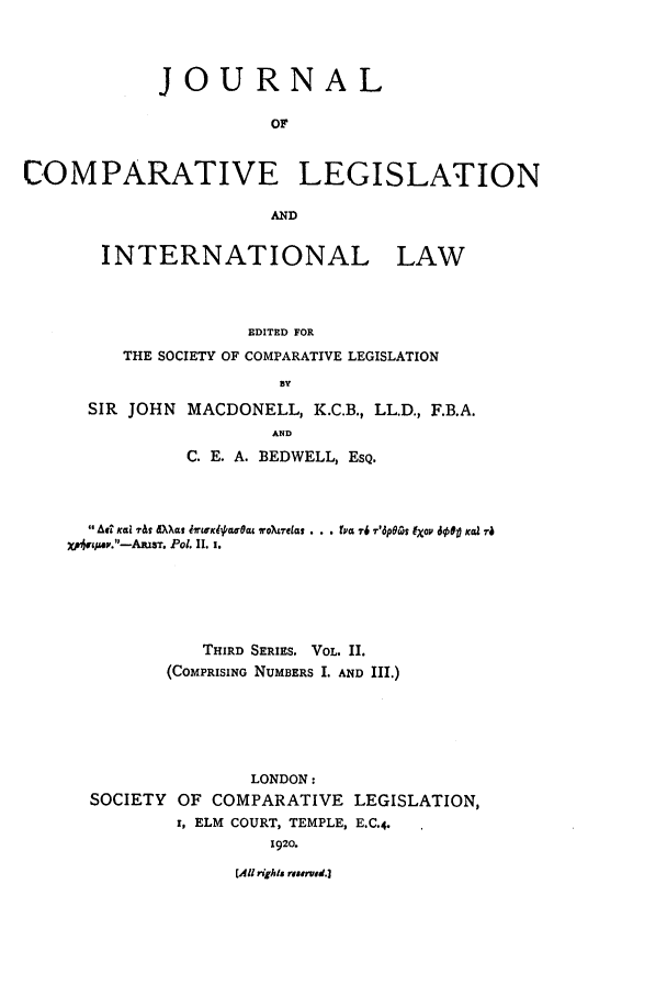 handle is hein.journals/jclilcs2 and id is 1 raw text is: JOURNAL