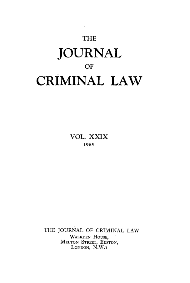 handle is hein.journals/jcriml29 and id is 1 raw text is: THE