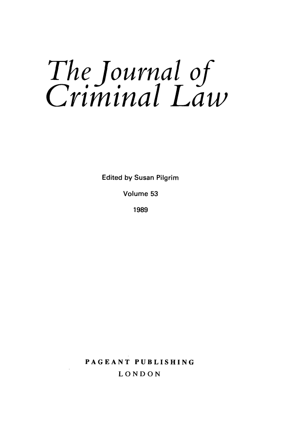 handle is hein.journals/jcriml53 and id is 1 raw text is: The Journal of
