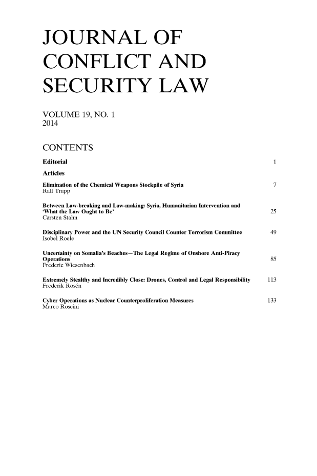 handle is hein.journals/jcsl19 and id is 1 raw text is: 