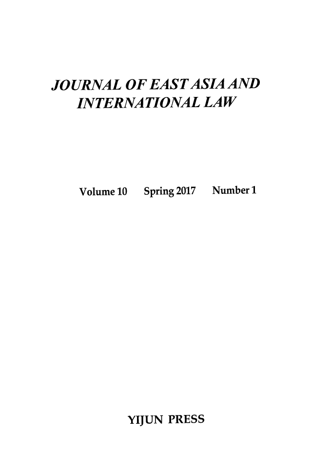 handle is hein.journals/jeasil10 and id is 1 raw text is: 