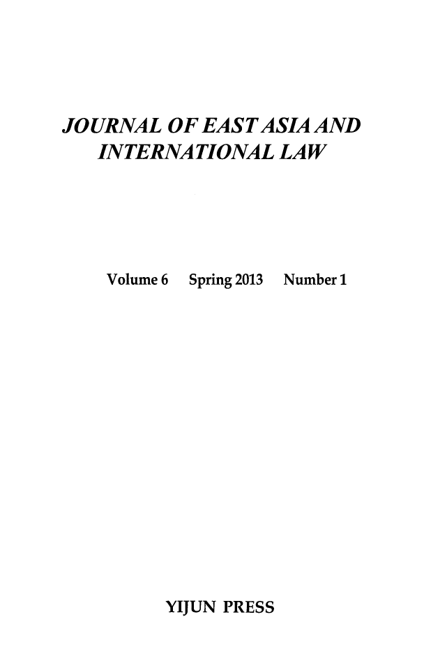 handle is hein.journals/jeasil6 and id is 1 raw text is: 