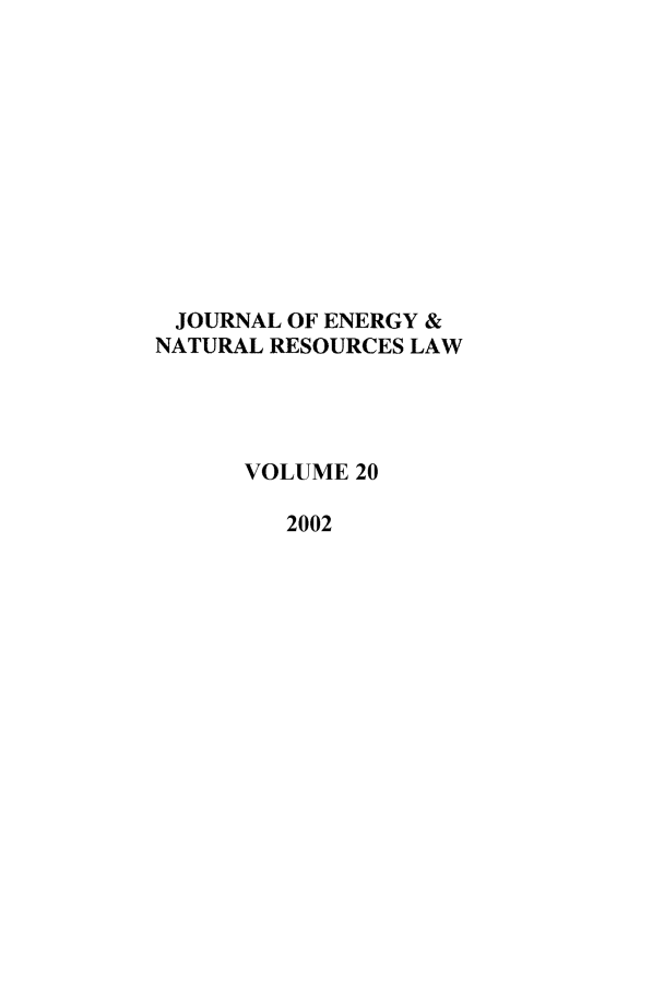 handle is hein.journals/jenrl20 and id is 1 raw text is: JOURNAL OF ENERGY &