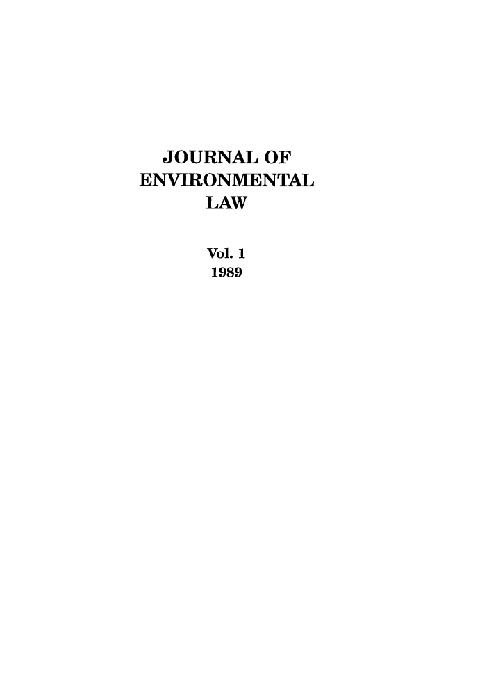 handle is hein.journals/jenv1 and id is 1 raw text is: JOURNAL OF