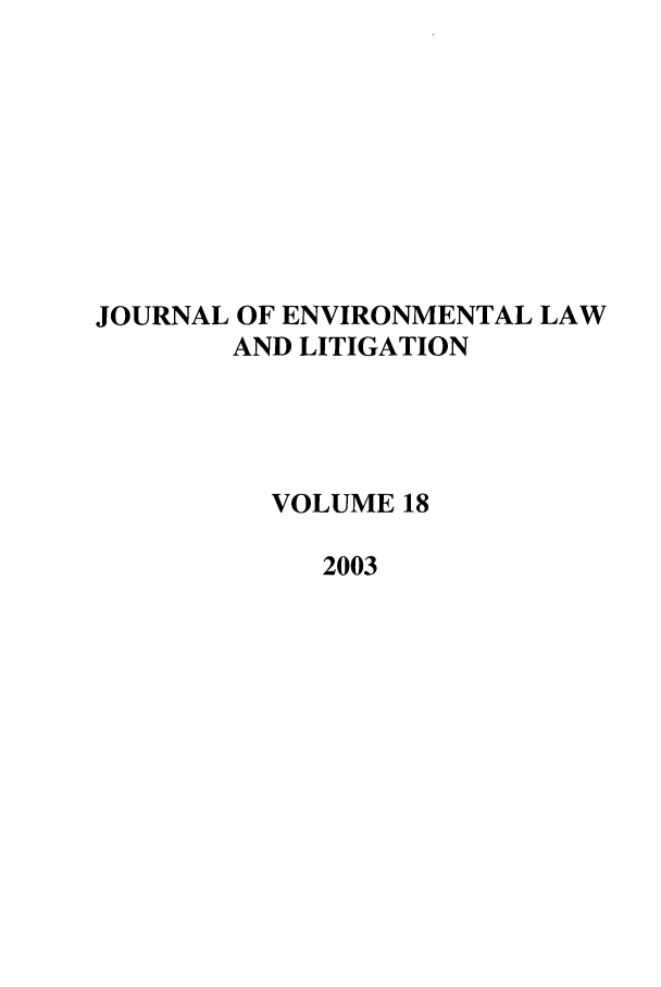 handle is hein.journals/jenvll18 and id is 1 raw text is: JOURNAL OF ENVIRONMENTAL LAW