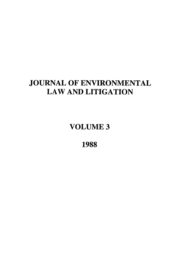 handle is hein.journals/jenvll3 and id is 1 raw text is: JOURNAL OF ENVIRONMENTAL