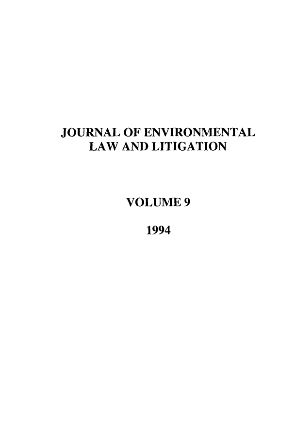 handle is hein.journals/jenvll9 and id is 1 raw text is: JOURNAL OF ENVIRONMENTAL