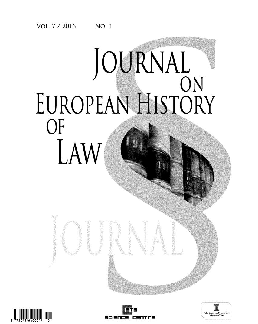 handle is hein.journals/jeuhisl7 and id is 1 raw text is: 