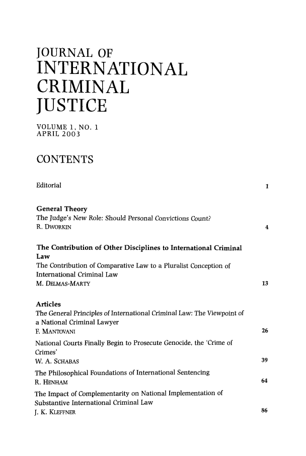 handle is hein.journals/jicj1 and id is 1 raw text is: JOURNAL OF
