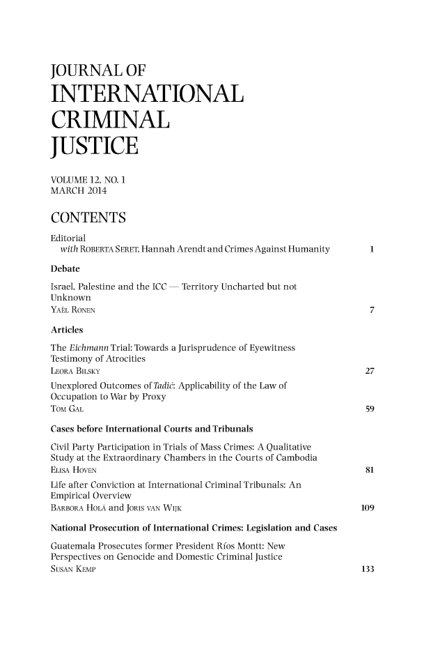 handle is hein.journals/jicj12 and id is 1 raw text is: 