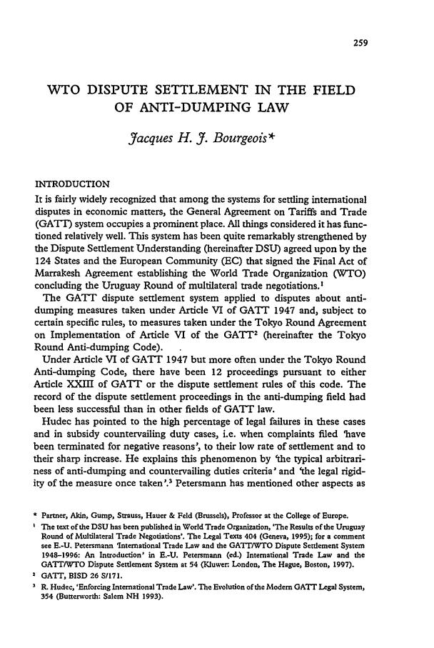 THE GATT/WTO DISPUTE SETTLEMENT SYSTEM - Ernst-Ulrich Petersmann