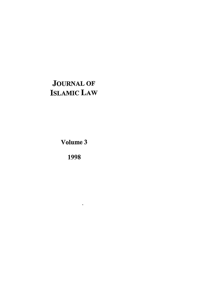 handle is hein.journals/jilc3 and id is 1 raw text is: JOURNAL OF