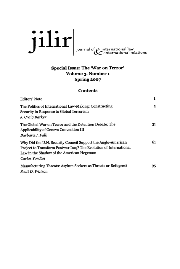 handle is hein.journals/jilwirl3 and id is 1 raw text is: ilir]