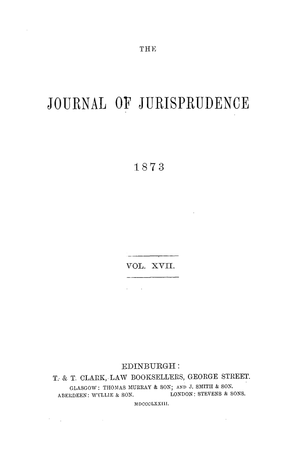 handle is hein.journals/jjuris17 and id is 1 raw text is: THE